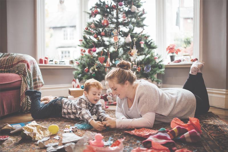 Zu Weihnachten Spaß und gemeinsame Zeit mit der Familie